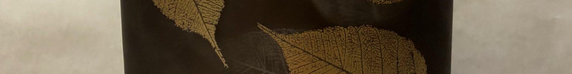 Vaso foglie Piccolo marrone