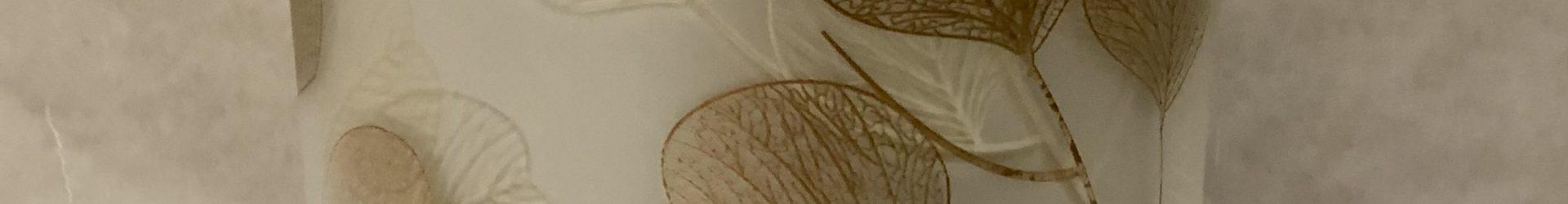Portacandela foglie piccolo silver