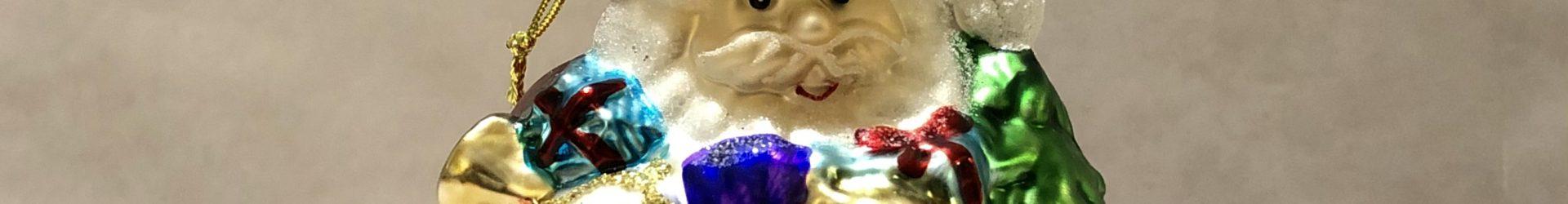 Babbo Natale in vetro